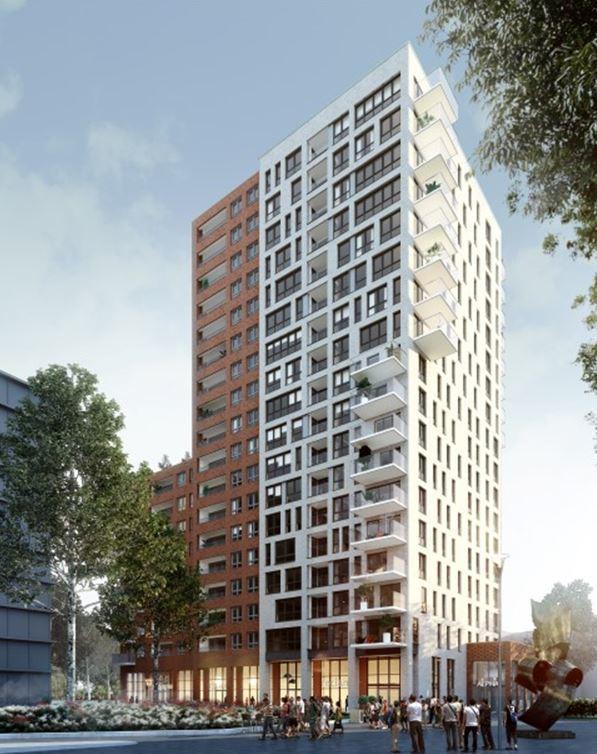 Nieuwbouw Alpha woontoren in Leiden